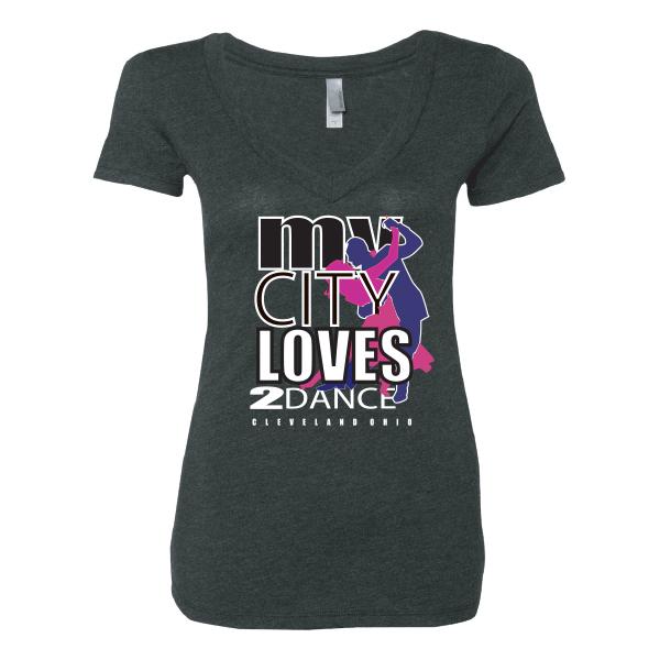 Women's Gray V-Neck T-Shirt